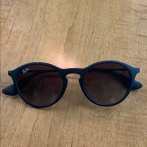 Authentic Black Circle Frame Ray Ban Sunglasses